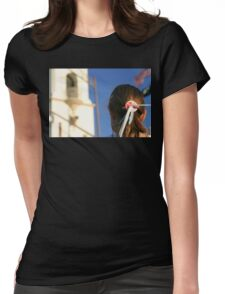 Girl Feather Headdress Womens Fitted T-Shirt