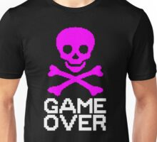 GAME OVER (PINK SKULL) Unisex T-Shirt
