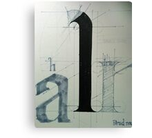typography one Canvas Print