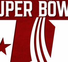 Super Bowl LI 2017 rocket ball Sticker
