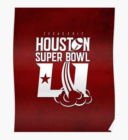 Super Bowl LI 2017 rocket ball Poster
