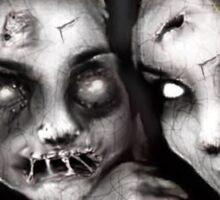 zombie girls Sticker