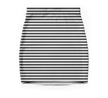 Black and White Pinstripe Mini Skirt