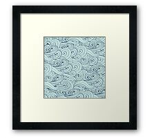 Blue Ocean Waves abstract Framed Print