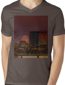 Moon Rise Mens V-Neck T-Shirt