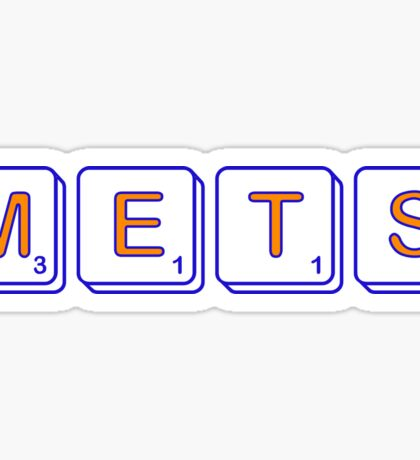 Mets Scrabble  Sticker