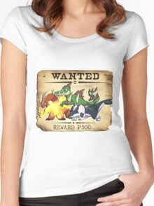 Johto Starters Alola Forms - Most Wanted Poster Women's Fitted Scoop T-Shirt