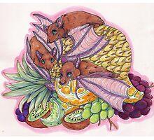 Fruit Bats Photographic Print