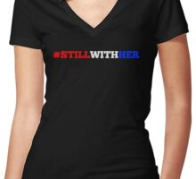 #stillwithher - Multi-Colored Women's Fitted V-Neck T-Shirt