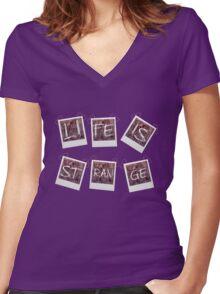 L.I.S. Women's Fitted V-Neck T-Shirt