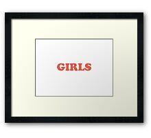 girls. Framed Print