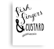 Fish Fingers & Custard Canvas Print