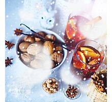 Christmas decorations with festive mood Photographic Print