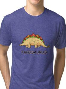 Funny Tacosaurus Dinosaur Tacos Food Mexican T-Shirt Tri-blend T-Shirt