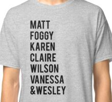 Daredevil Season 1 Characters Classic T-Shirt