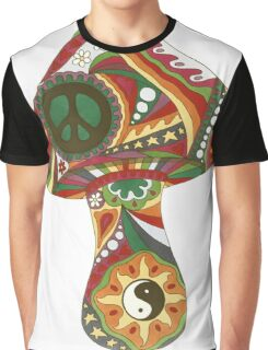 Vintage Psychedelic Mushroom Graphic T-Shirt
