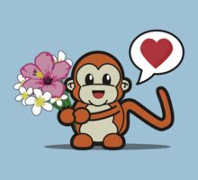 Flower Monkey Love Kids Tee