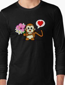 Flower Monkey Love Long Sleeve T-Shirt