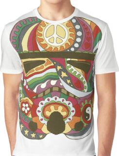 Vintage Psychedelic Storm Mask Graphic T-Shirt