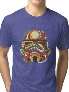 Vintage Psychedelic Storm Mask Tri-blend T-Shirt