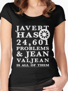 Les Miserables Jean Valjean Javert Jay z 99 problems Women's Fitted Scoop T-Shirt