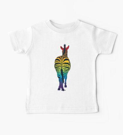 Rainbow Zebra Baby Tee