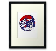 KFC Captain Falcon Framed Print