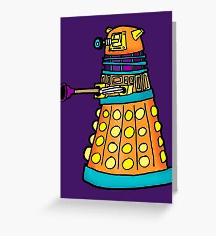 Zack's Little Dalek Greeting Card