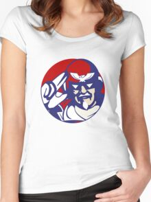 KFC Captain Falcon Women's Fitted Scoop T-Shirt