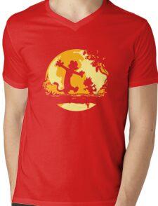 Calvin and Hobbes Tee Shirt Mens V-Neck T-Shirt