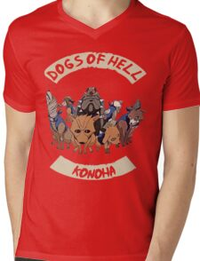 Kakashi Dogs Mens V-Neck T-Shirt