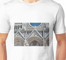Detail of the basilica facade from Siena  Unisex T-Shirt