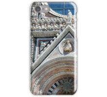 Detail of the basilica facade from Siena  iPhone Case/Skin