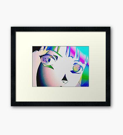 chromaTIC (Serial Experiments Lain) Framed Print