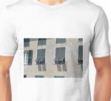 Italian building facade with green shutters Unisex T-Shirt