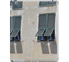 Italian building facade with green shutters iPad Case/Skin