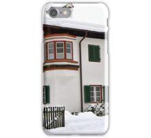 Snowy House, Telfs, Tyrol, Austria iPhone Case/Skin