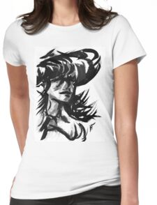 Sun Hat Womens Fitted T-Shirt