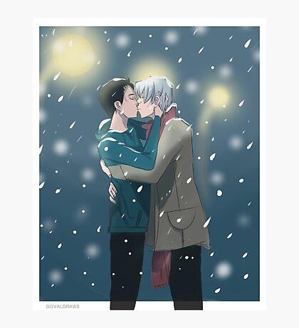 Snow Kiss Photographic Print