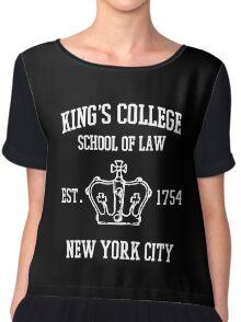 King's College Chiffon Top