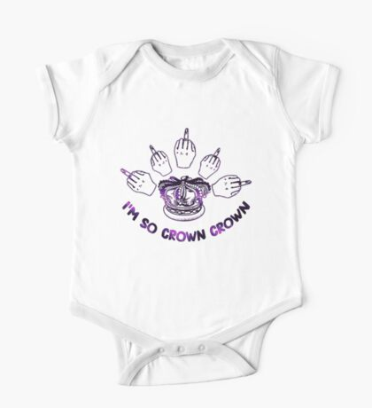 I'm so crown crown One Piece - Short Sleeve