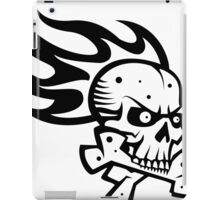 Skull Flame Crossbones iPad Case/Skin