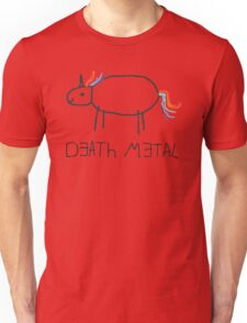 Death Metal Unicorn (Crayon) Unisex T-Shirt