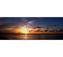 Sunset on Beach Road Panorama Photographic Print