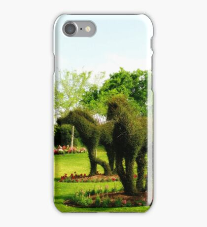Topiary Horses iPhone Case/Skin
