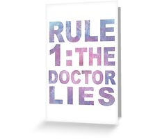 Rule 1 Greeting Card