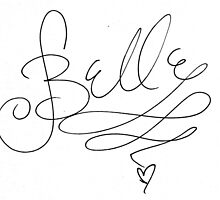 Belle Disney Character Signature by allyonlyweknow