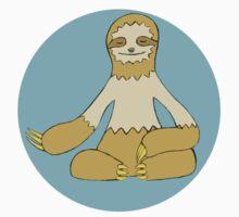 Meditative Sloth One Piece - Short Sleeve