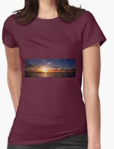 Sunset on Beach Road Panorama T-Shirt