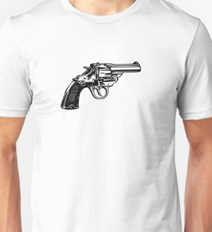 Simple Revolver Pistol Unisex T-Shirt